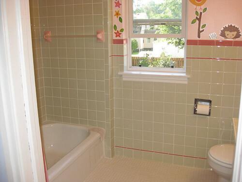 1940s bathroom renovation