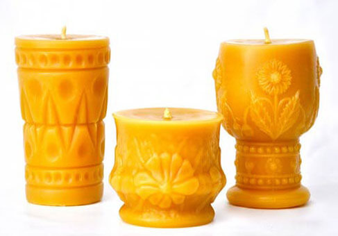 beeswax candles handmade