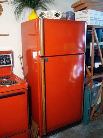 red refrigerator original poppy color frigidaire