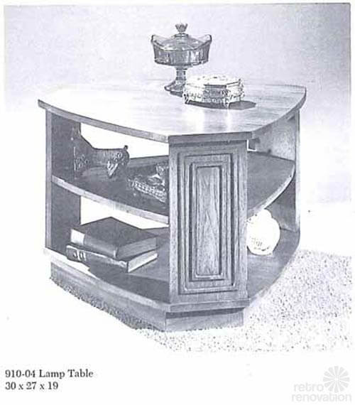 Broyhill Sculptra lamp table