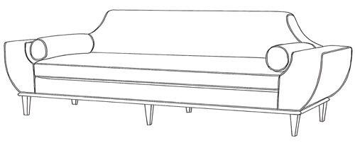 mid century sofa audrey sofa Younger Furniture