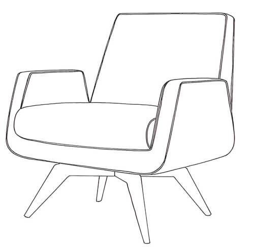 mid century chair betty chair Younger Furniture