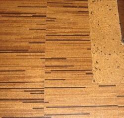 striped cork-floor