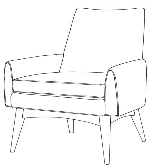 mid century  chair dean Younger Furniture