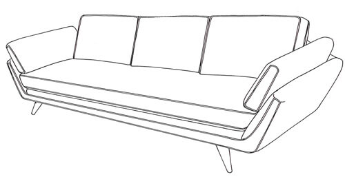 mid century sofa dylan Younger Furniture