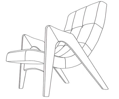 mid century lounge chair edie Younger Furniture