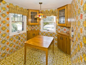 1960s kitchen in 1940 time capsule house