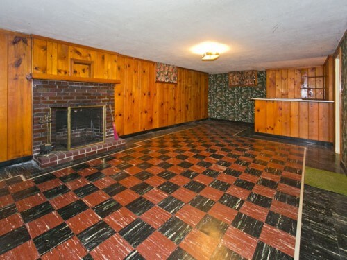 knotty pine basement