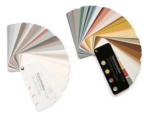 Guggenheim Color paint swatches