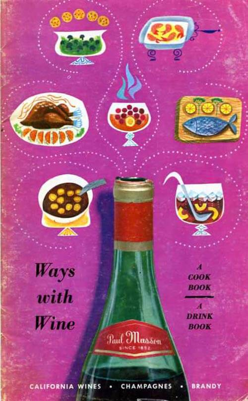 retro cookbook ways with wine