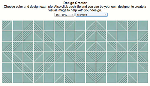 Diamond-pattern-sculptural-tile