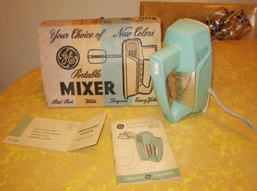 GE-portable-mixer-aqua-NOS-