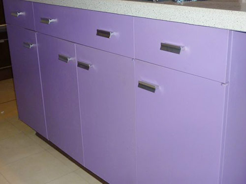 Purple And Walnut 1970 St Charles Metal Kitchen Retro Renovation