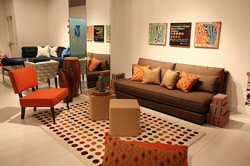 Younger-Ave-62-orange-chair-and-couch