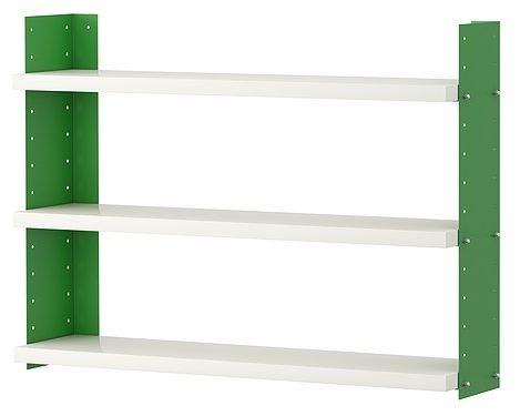 green shelving ikea