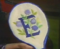 erica wilson needlepoint tennis racket cover image