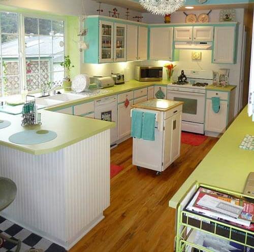 retro-kitchen-lime-green-counters