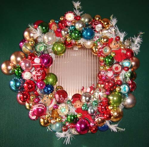 wreath vintage ornaments