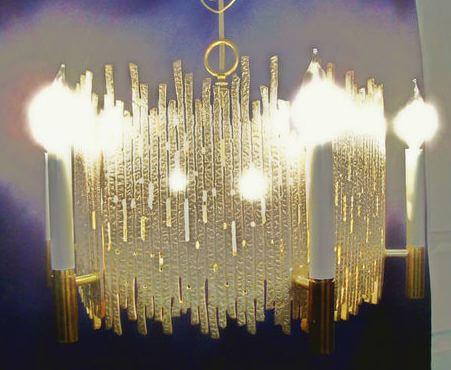 vintage moe chandelier 1970s