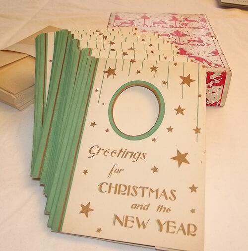 vintage christmas card greetings