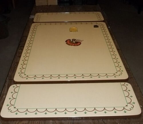 porcelain enamel table top