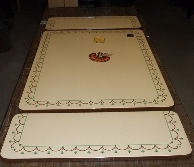 Vintage enamel table top  New Old Stock  Kuehne Khrome sold by Sears  Retr