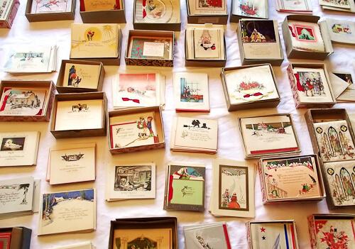 vintage christmas card estate sale
