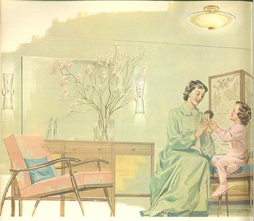 Mid-century-girls-bedroom