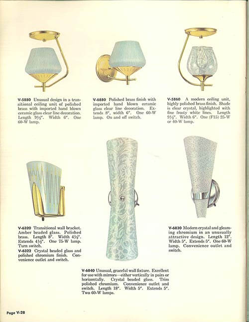 Vintage Virden Lighting 52 Page Catalog From 1959