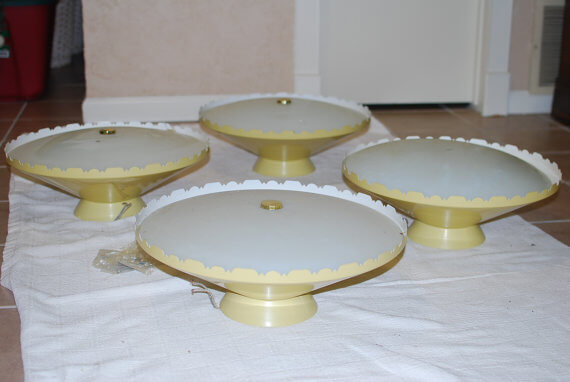 vintage yellow ceiling lights