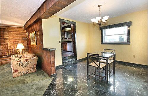 mid-century-marble-floor-dining-room