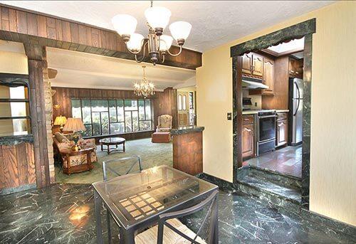 mid-century-marble-floored-dining-room