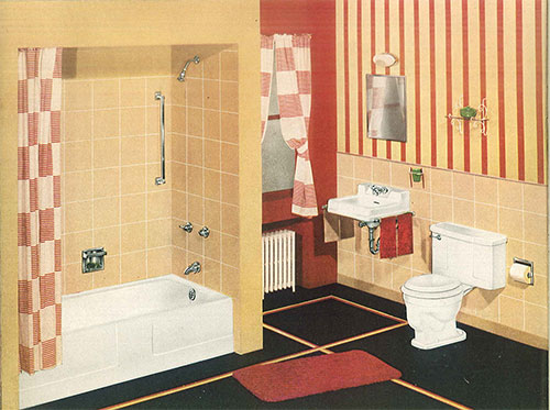 24 pages of vintage bathroom design ideas from crane Peach bathroom