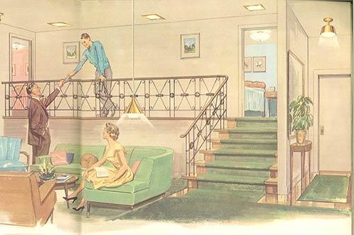 retro-living-room-staircase