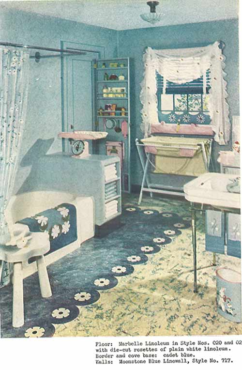 1940s decor bathroom