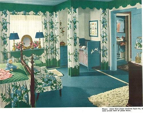 1940s decor bedroom