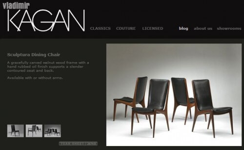 kagan sculptura dining chair