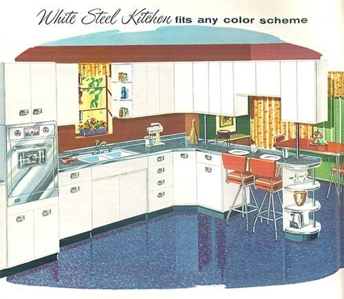 white-steel-kitchen-sears