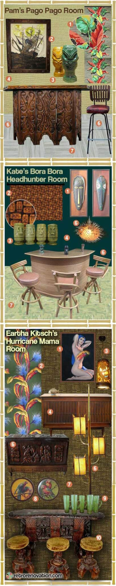Tiki room ideas vintage retro