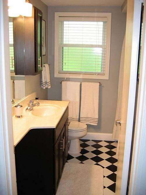 bathroom-remodel-with-checkerboard-floor