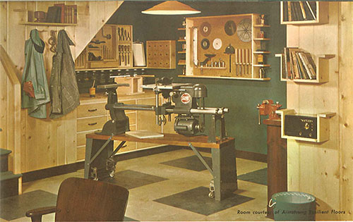 101 design ideas to decorate knotty pine 24 page catalog for Retro basement ideas