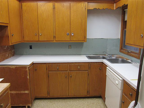 Retro Kitchen Wood Cabinets