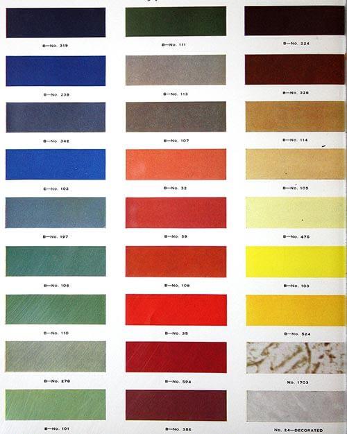 vintage formica colors 1930s