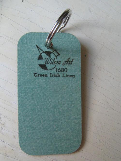 green linen laminate counter tops
