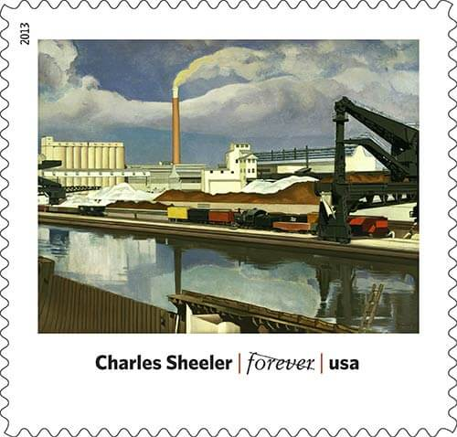 Charles-Sheeler-Art-in-America-stamp-USPS