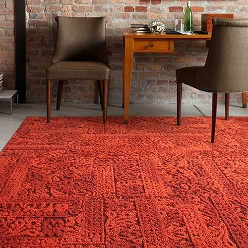 1970s house poppy rug