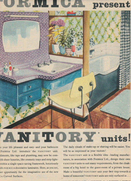 Formica vanitory units