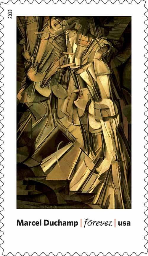 Marcel-Duchamp-USPS-art-in-America-stamp
