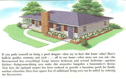 Terrific curb appeal ideas from swift homes 1957 house for Mid century ranch house plans