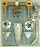6 inch center tub and shower valves and faucets